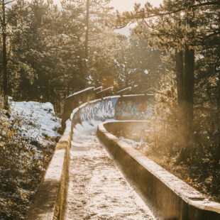abandoned olympic bobsleigh of Sarajevo