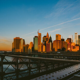 sunrise in new york city