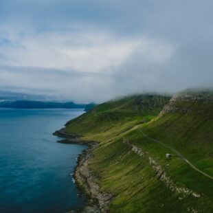 the lonely houses of faeroer islands
